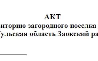 Акт недопуска на объект